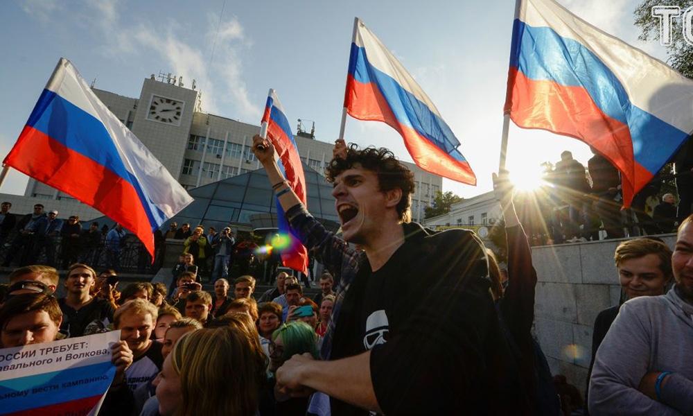 Tak Putin walczy z opozycją. Czternaście osób zatrzymanych przez moskiewską policję